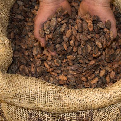 Sack Kakaobohnen